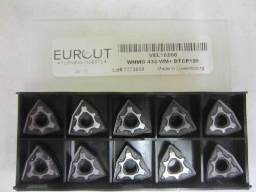 NIB Eurcut DTCP126 VEL10206 Carbide Inserts DoAll WNMG 432-WM 10