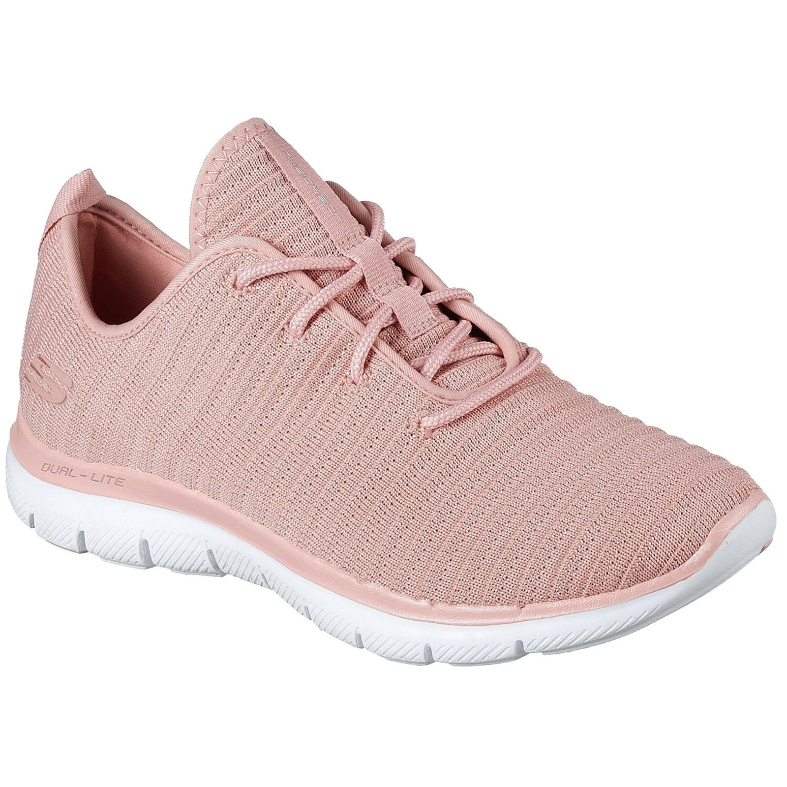 LADIES SKECHERS FLEX APPEAL 2.0 ESTATES ROSE LACE UP Schuhe TRAINERS 12899/ROS
