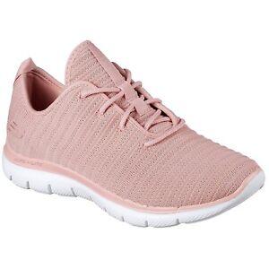 Détails sur Femmes Skechers Flex Appeal 2.0 Estates Rose Lacets Chaussures De Sport 12899ROS afficher le titre d'origine