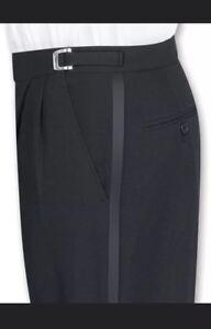 Tuxedo in New No Black Gianni Short Hem regolabile 37 Pants lana S BqEEIwr