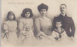 Reali Royalty Savoia Iolanda Mafalda Umberto II cartolina