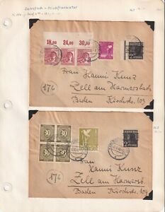 GERMANY POST-WAR DEUTSCHE POST 2 COVERS SPECIALIST COLLECTION LOT NICE CDS