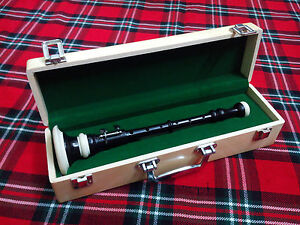 Great Highland Dudelsack Practice Chanter Palisander mit Hartschale //