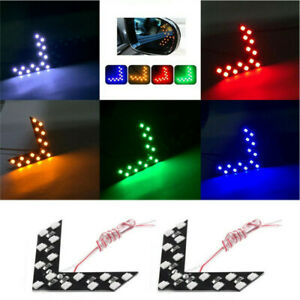 2Pcs-Car-Side-Rear-View-Mirror-14-SMD-LED-Signal-Lights-Lamp-Accessories-Kit