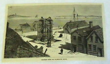 1882 magazine engraving ~ PRESENT SITE OF PLYMOUTH ROCK