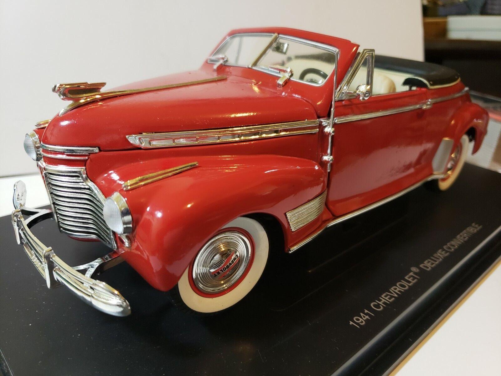 Eagle Collebles Chevrolet 1941 Deluxe Kongrönible 1 18 skala Die Cast