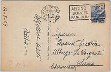 53292 - REGNO -  CARTOLINA con ANNULLO MECCANICO: Albano Terme 1949