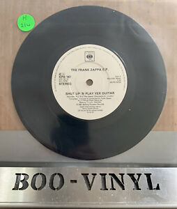 THE-FRANK-ZAPPA-EP-Shut-Up-039-n-Play-Yer-Guitar-3-track-33rpm-7-034-vinyl-EX-CON-RARE