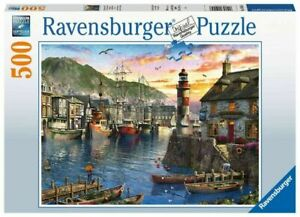 Ravensburger 500 piece jigsaw puzzle Sunrise At The Port New & Sealed
