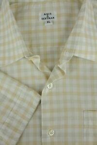 Camicia Corta Manica Uomo Marrone Xl amp; Maus Cotone Di Geometrico Hoffman Casual w0A7fYp