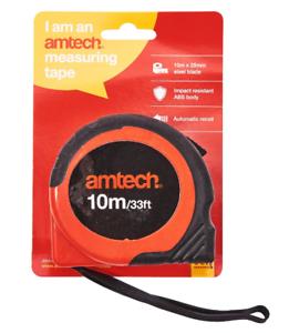 Amtech Ruban à mesurer 10 mètre 25 mm large lame clip ceinture Bracelet P1255