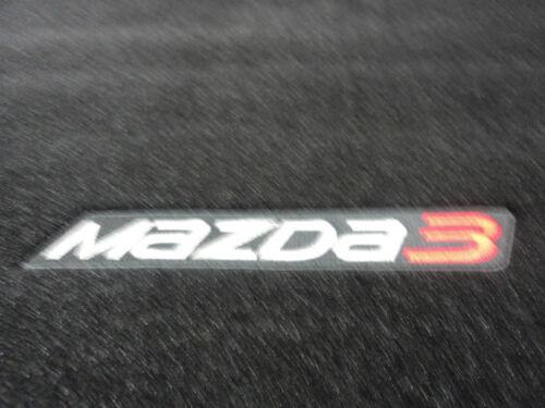 Mazda 3 2014-2016 sedan New OEM rear black carpeted cargo mat 0000-8B-L81