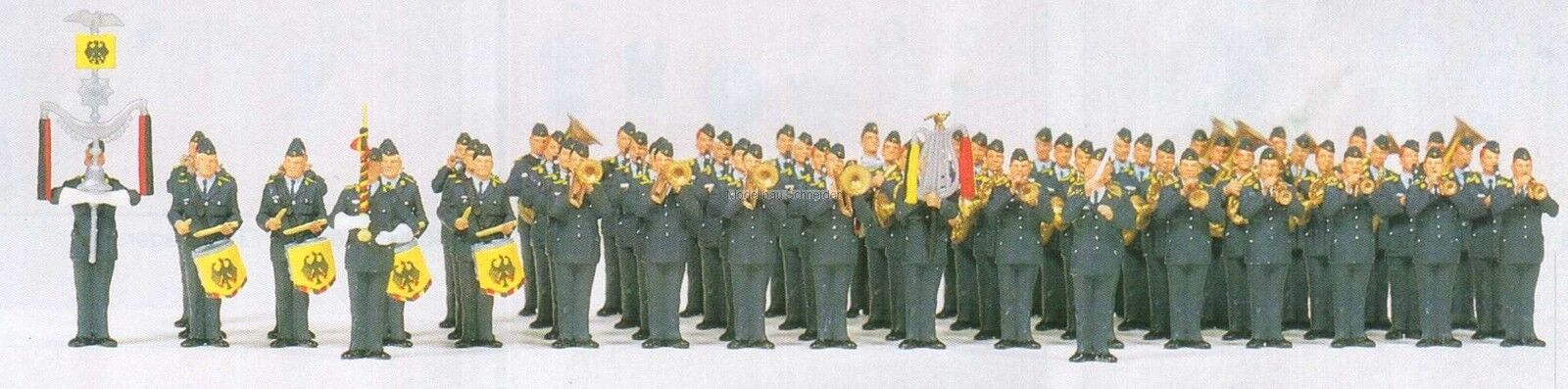H0 Preiser 13256 Corpo di Musica Aviazione Militare Bw.