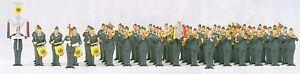 H0-Preiser-13256-Cuerpo-de-musica-Fuerza-aerea-BW-RFA-emb-orig