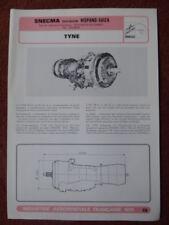 1975 DOCUMENT GIFAS SNECMA HISPANO-SUIZA TYNE MK 21 MK 22 TRANSALL ATLANTIC