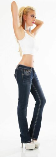 Women/'s Jeans Pants Straight Straight BootCut Flap Pocket Thick Seams Size 8-16