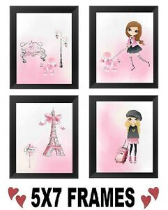 5x7-Pink-Paris-Pictures-Eiffel-Tower-Bathroom-Bedroom-Bed-Bath-Wall-Hangings