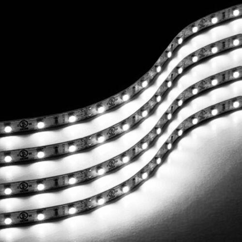 Zone Tech White 4x  30cm LED Car Flexible Waterproof Lighting Strips Light