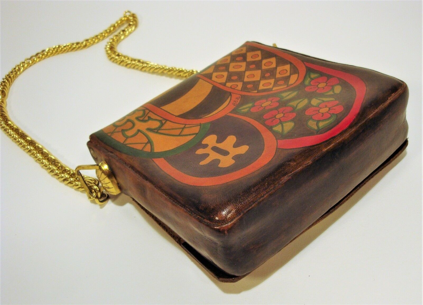 1970's Handmade & Painted ELYSE STONE Psychedelic… - image 3