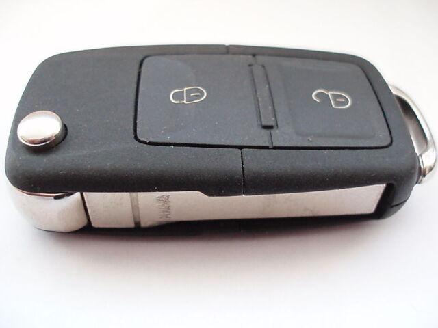 VW Volkswagen Golf Mk4 Bora T5 Transporter 2 button remote flip key fob