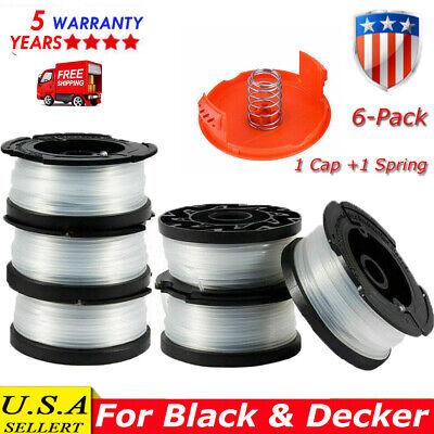 3 Pack Spool /& Cap fits Black Decker AF-100-3ZP 30ft .065 String Trimmer