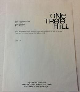 ONE-TREE-HILL-set-used-2004-RESUMES-MEMO