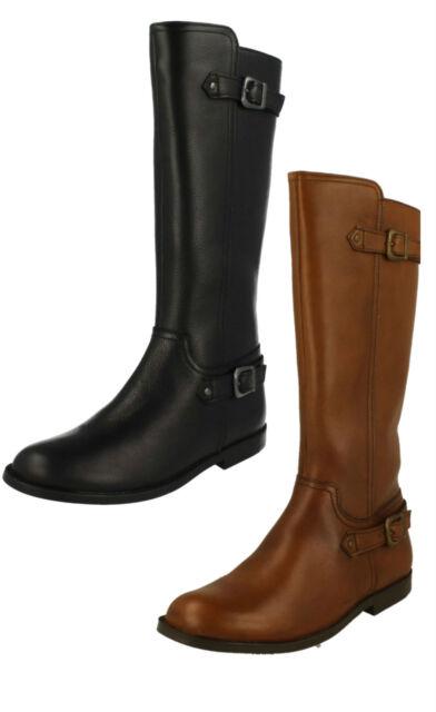 Girls Clarks Knee Length Fashion Boots Sami Twist