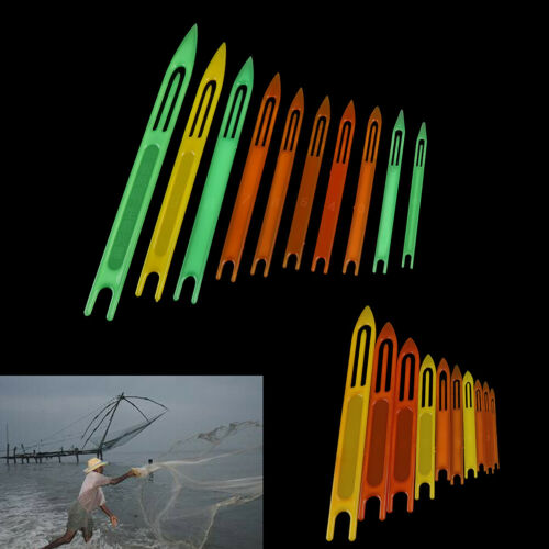 10 Pcs Fishing Netting Needle Repair Net Line Plastic Shuttles Mending Weavin UL