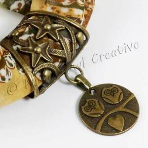BANDTILEOwl Scarf Ring, Jewellery, Scarf Clip, Antique Bronze Pendant, FREE gift pouch
