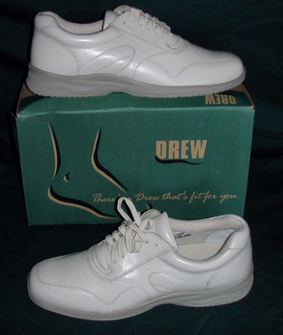 Drew Airee Womens Size 12 S Winter White Leather Oxfords Orthopedic Casual Shoes