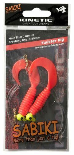 Kinetic Doppel-Twister-Rig Meeresvorfach Dorschköder Seelachs Pollack Rigsystem