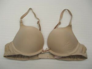VS-VICTORIA-039-S-SECRET-32A-Bra-Demi-Coverage-Padded-Nude-Plunge-Push-Up
