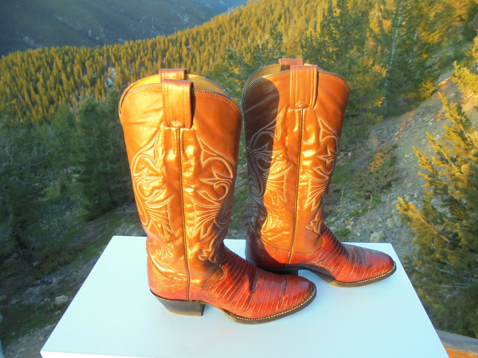 OLATHE Snake Skin Damens's Western Stiefel with Decorative Stitching USA Größe 7.5B
