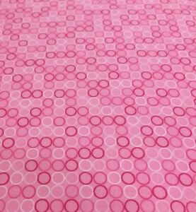 Robert-Kaufman-Spot-On-Pink-Rings-Quilting-Fabric-100-Cotton-Quilting-Fabric