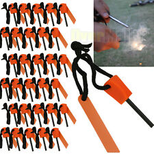 30PCS X Mini Emergency Flint Fire Starter Rod Lighter Magnesium Camping Tool Kit
