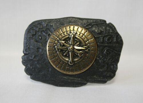 Pirat Steampunk Buckle Gürtelschnalle Schnalle für Gürtel Kompass schwarz