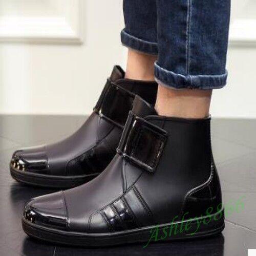 Korean Ankle Rain Boots Waterproof Man Pull On Fishman PVA Fashion Casual shoes