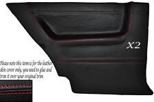 RED STITCH 2X REAR DOOR CARD SKIN COVERS FITS VW GOLF MK2 JETTA 83-92 3DR