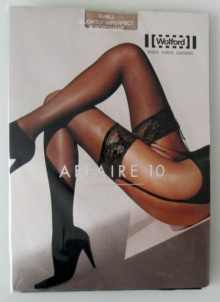 Nouveau & Neuf Dans Sa Boîte: Wolford Affaire 10 Stockings/bas! Taille S! Cosmetic! B-assortiment