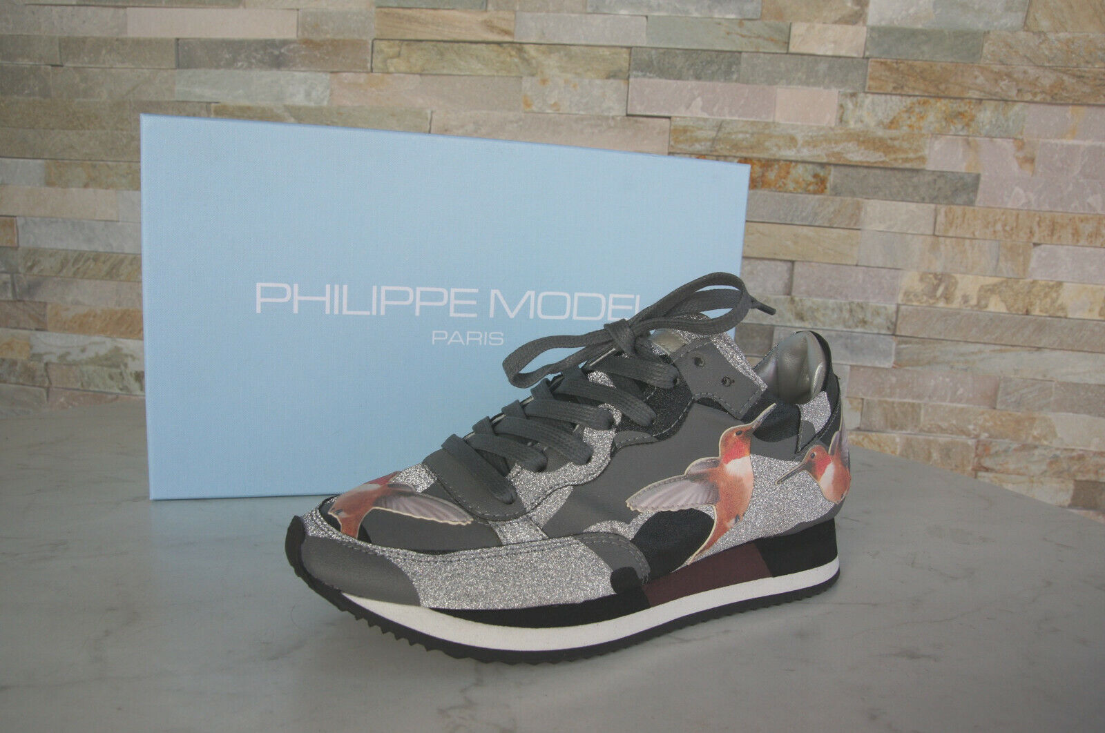 Philippe Model Paris Sz. 40 Sneakers Trainers Tbld shoes Etoile Grey New