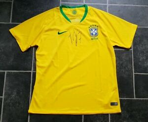online retailer 8e38e 6b388 Details about Manchester United Fred signed Brazil football shirt AFTAL  PROOF