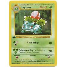 Ivysaur 30/102 1st Ed First Edition Base Set Pokemon Card