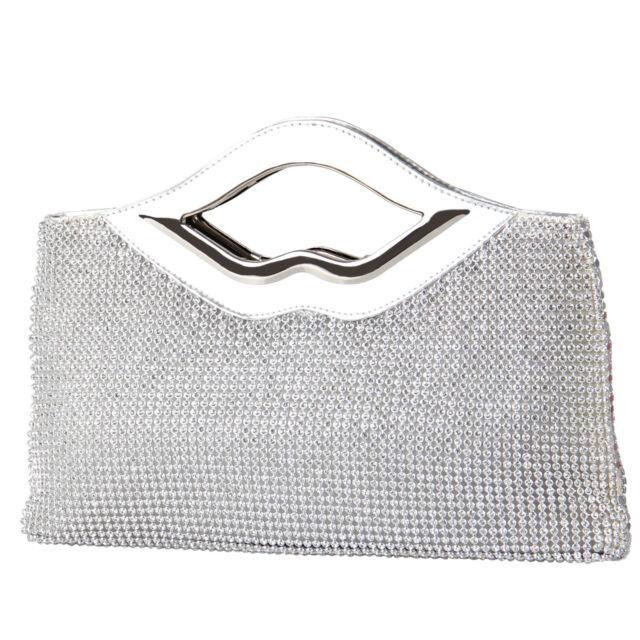 Sparkly Crystal Clutch Evening Bag Diamante Party Wedding Bridesmaid Purses Hot