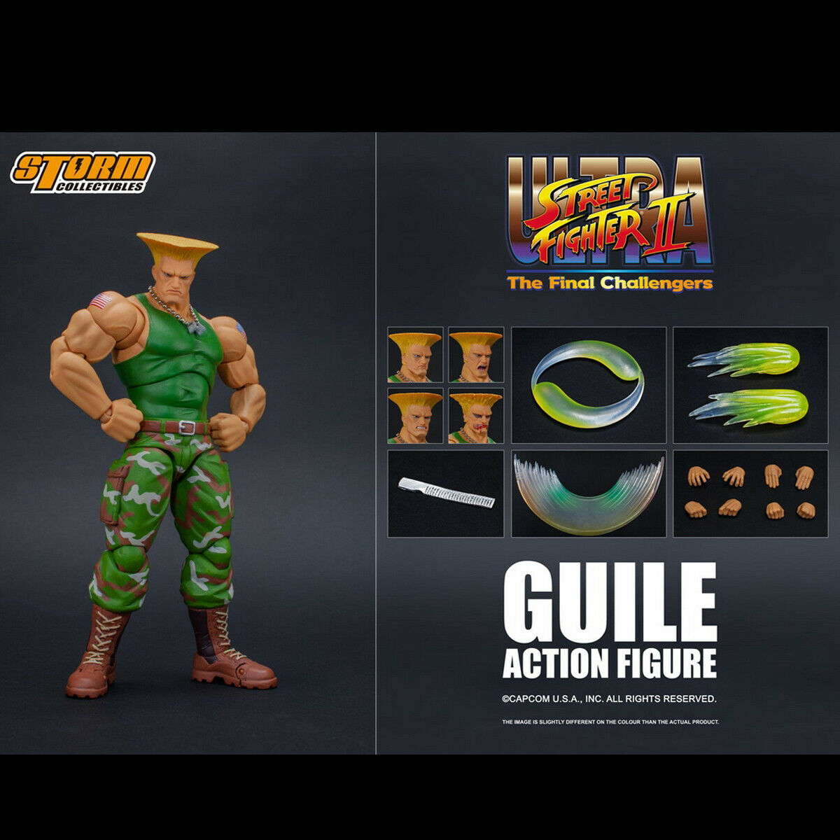 Storm Toys 1 12 Ultra Street Fighter II The Final Challenger GUILE Figure Model