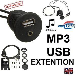 MOTORHOME-Dashboard-Flush-Mount-USB-MP3-CAR-LORRY-Self-Build-CAMPER-12V-24V