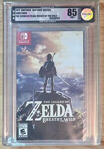 The Legend of Zelda Breath Of The Wild Nintendo Switch VGA Graded 85 NM+ Rare
