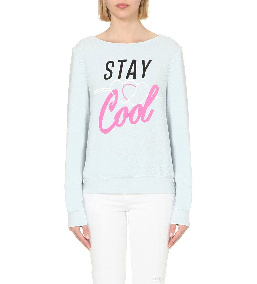 NEW WILDFOX COUTURE STAY COOL BAGGY BEACH JUMPER TUNIC SWEATER TOP SHIRT