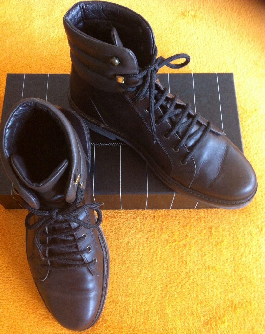 Z Zegna Zegna Z ***Schuhe~Ankle Boots***Gr.8 /42***braunes Glattleder***Neu** aeb81e
