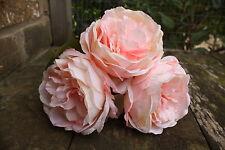 3 x luce Baby Rosa Seta Di Lusso Peonia ROSE 9cm-steli lunghi