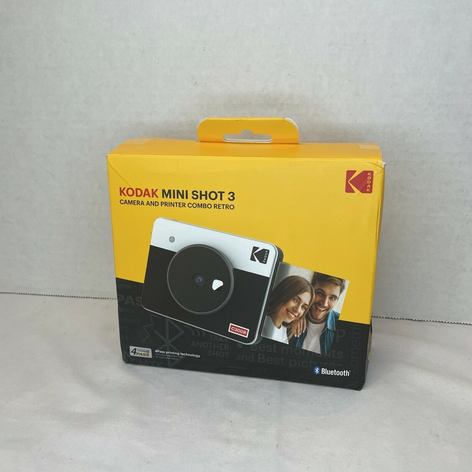Kodak Mini geschossen 3 retro Portable Wireless Instant Kamera /& Foto-Black Tasche nur Kodak komplett neue Mini Aufnahmen 3 Quadrat Schwerer Koffer f/ür Kodak Mini 3 retro
